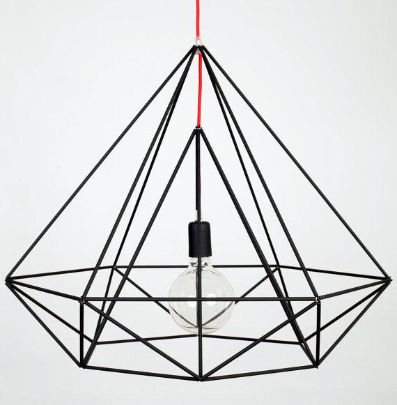 etsy - himmeli diamond pendant
